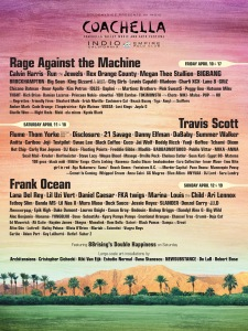 Coachella Music Festival 2020 lineup Indio California