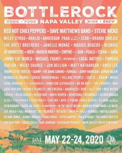 Bottle rock Napa Valley Music and Wine Festival 2020 full lineup