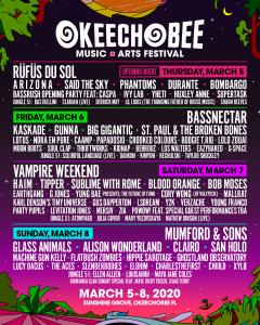 Okeechobee Music Festival full 2020 lineup Sunshine Grove Florida