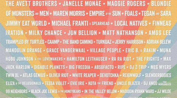 News: Bottlerock Lineup announced